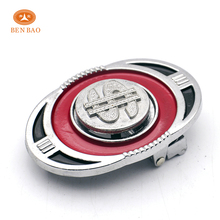 China belt buckle manufacturer high quality western oval belt buckle with silver dollar