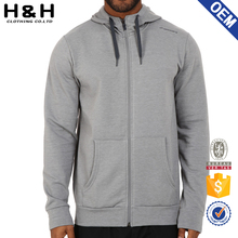 Mens Street Plain Zipper Hoodie For Customizing <strong>Logo</strong>