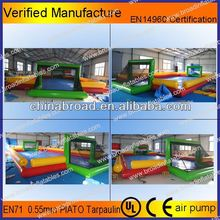 Durable inflatable football field,all-in-one sports arena inflatable sports games