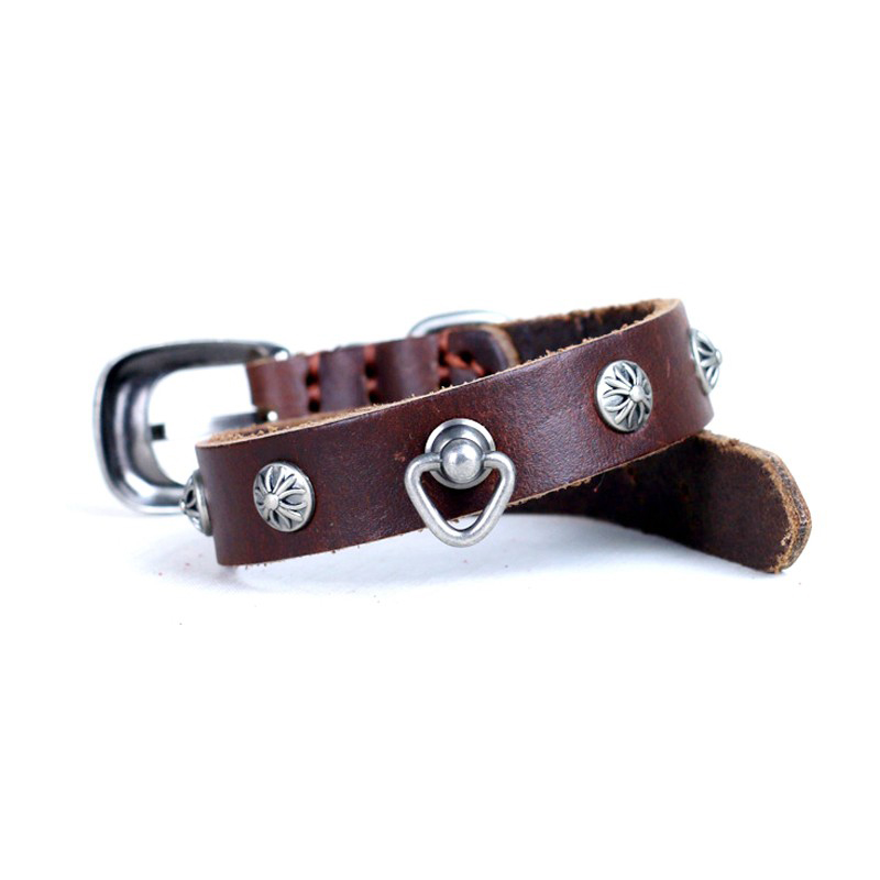 Customized Design Pu Leather Service Pet Products Accessory Dog Collars With Rivet Best Selling,Factory Manufacturer