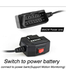 11.6-40V power input and 5V power output OBD2 power adapter cable