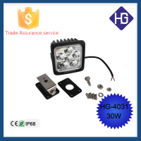 4.5inch Square 30W sport/flood Motorcycle led driving light night lamp ATV SUV JEEP