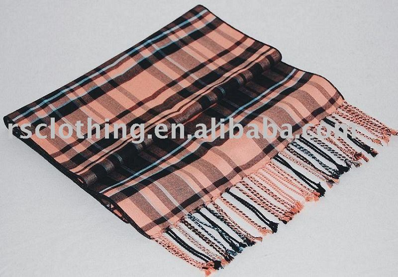 Silk Brushed Scarf with fringes
