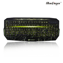 Shenzhen Factory cheaper price for RED Green Yellow led USB wired keyboard