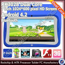 Cheap dual core rk3026 7 inch klastor kids android 4 1 tablet