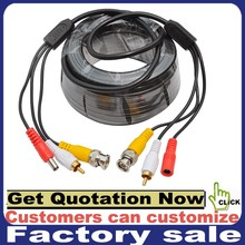 Customize BNC DC RCA 3 in 1 cctv camera cable for cctv camera