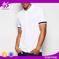 2016 Shandao Cheap High Quality Summer Casual 220g 100%Cotton White Short Sleeve Polo Clothes