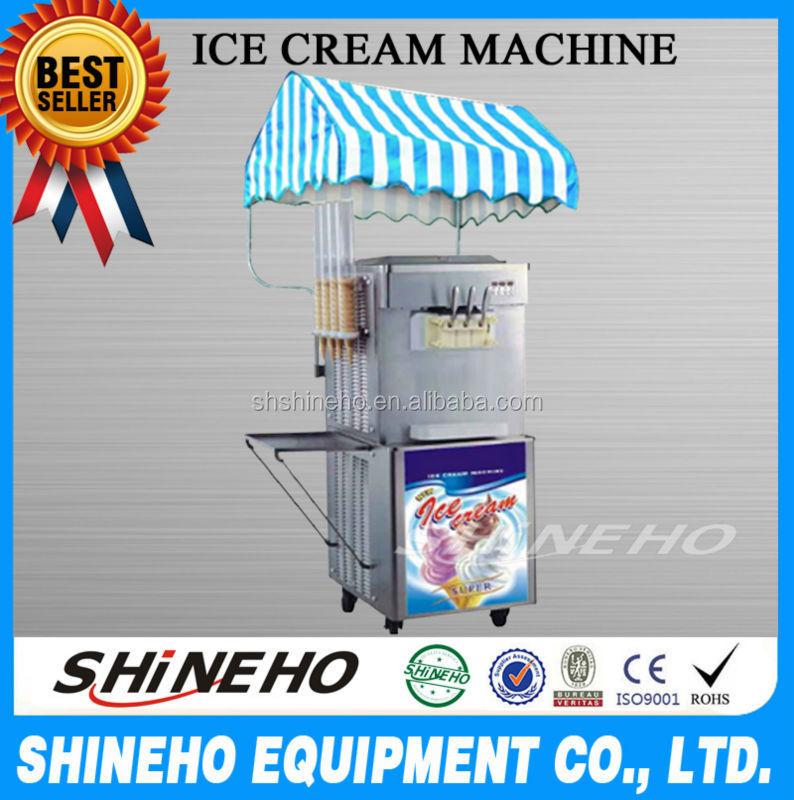 Hot sale mesin soft serve ice cream cart