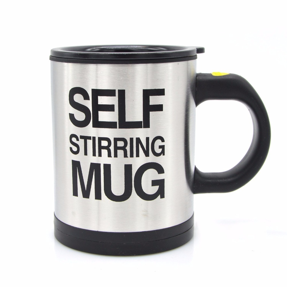 Zogift Automatic Electric Stirring Coffee Mug, Double Layer Stainless Steel Self Stirring Auto Coffee Mugs Self Mixing <strong>Cup</strong> for M