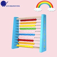 Children Maths Educational Toy Ten-Row Traditional Wooden Abacus for Kids