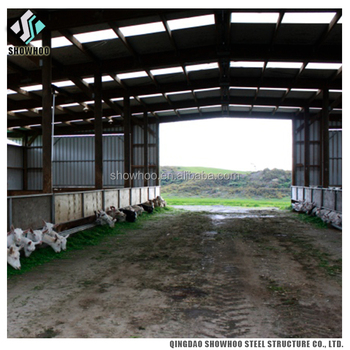Low Cost Steel Structure Prefabricated Cow Farm House Goat Farm Shed