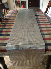 Flat Aluminum /Brass mesh Metallic Fabric for Tablecloth/ handbag/purse