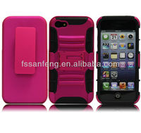 "Chinese factory produce super quality cheap phone case for iphone 5""/for iphone5 belt clip case with stripe fancy"