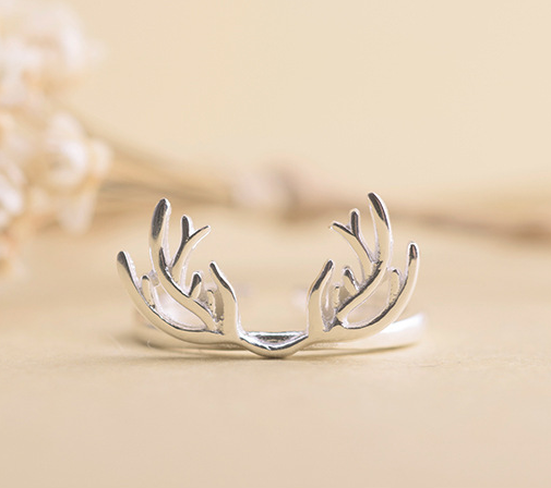 latest fashion jewellery designs deer 925 sterling silver animal rings
