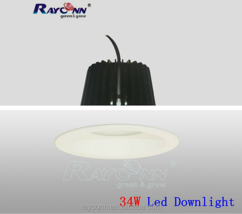 High Lumens commercial led recessed downlight spot 40w with cutout 175mm for shopping mall