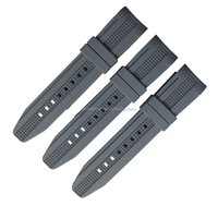24mm silicone rubber curved watch strap
