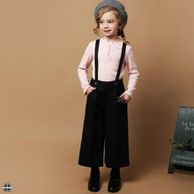 T-GP002 Girls Loose Strap Trousers Large Wide Leg Pants