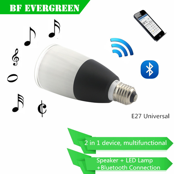 Hot Selling High Quality Sound Wireless Bluetooth 4.0 Speaker Lamp Led Light Bulb with Bluetooth Speaker