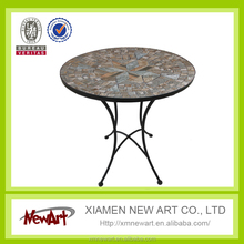 Metal Mosaic Bistro Set For Folding Table