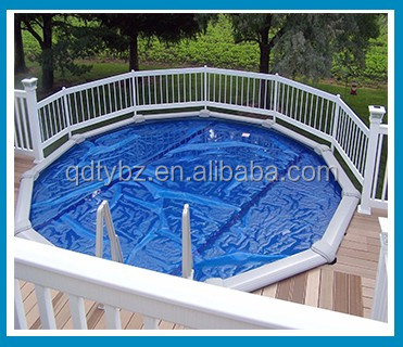 600 Micron Waterproof hard plastic swimming solar bubble pool cover