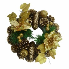 9 inches big pine cones christmas wreath / garland supply
