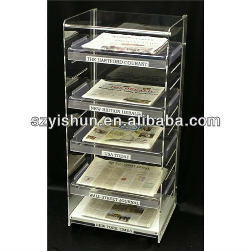Manufacturing acrylic shelf acrylic magazine shelf