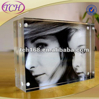 high transparency clear picture frame 6x8 mini acrylic photo frame