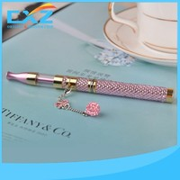 Lady design super slim famous crystal diamond replaceable 150mah e cigarette starter kit
