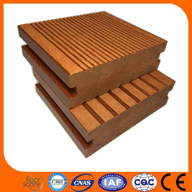 Coefficient of sliding friction:0.54 wood plastic swimming pool deck wpc flooring for swimming pool