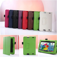 Tablet leather cover case,2 Folded Lychee Pattern folio stand leather case for Kindle Fire HD 2