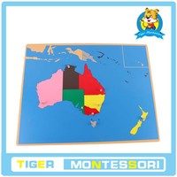 montessori materials,montessori toys,educational Wooden Toy- Puzzle Map of Australia.