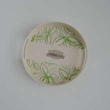 Newest printing bamboo fiber round serving tray
