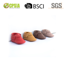 2016 Wholesale Cow Colorful Fringe Suede Leather Baby Shoes For 2 Year Old