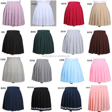 Ecoparty 18 Colors Love Live Japan Cute Cosplay School Uniform Skirt High Waist Pleated Skirt JK Student Girls Solid Skirt