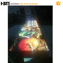 120mm guangzhou factory aluminum backlit picture frame fabric face light box