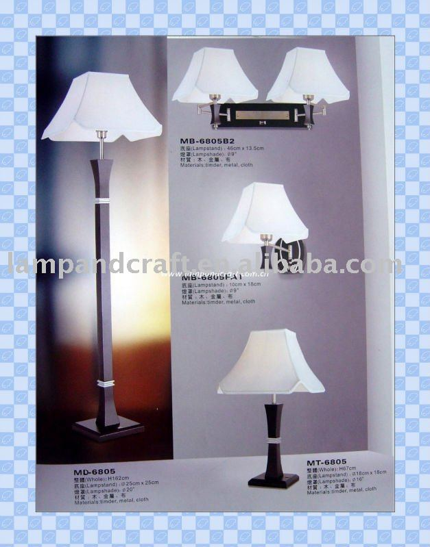 2011 Hotel Furniture Natural Hotel Nightstand Wood Lamp