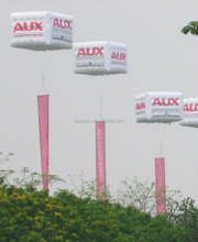 5m Inflatable Cube Helium Balloon Advertising with Hanging Banner& Logo Printings