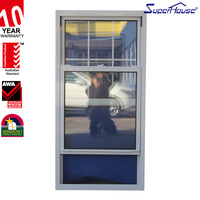 aluminium vertical sliding window image sliding panel window with safety grill design China suppiler