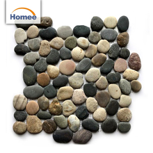 River Cheap Pebble Stone Tiles Chips Wash Price Brown Unpolished Pebble Stones Wall Finishes Kitchen Tile From Guangzhou