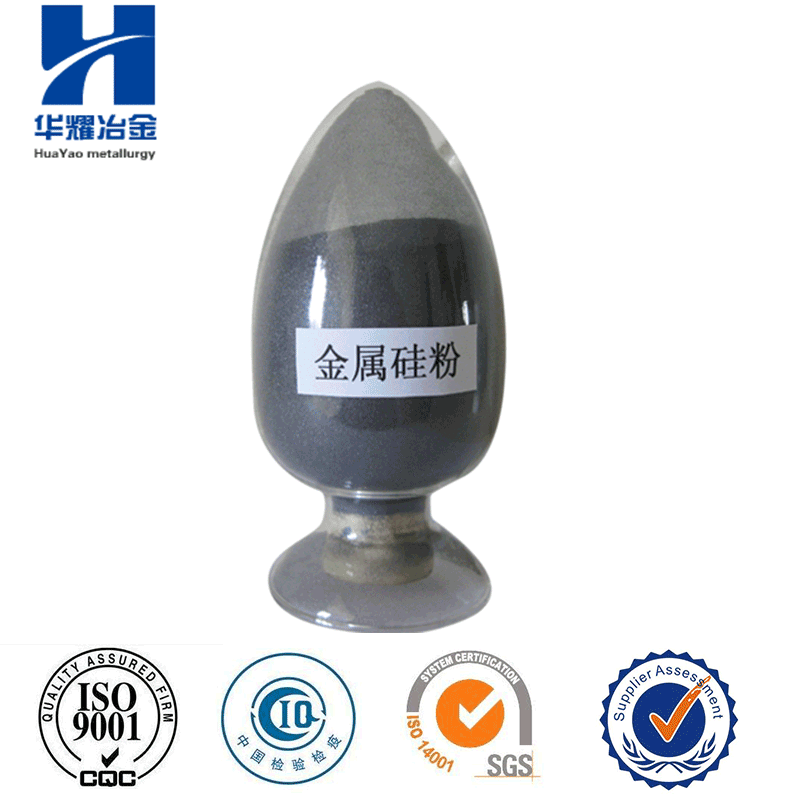 Amorphous silicon metal powder for refractory material