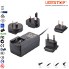 Interchangeable plug adapters 220v ac 12v dc power supply with CE UL CB TUV Level VI energy star