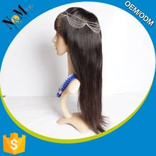 Wholesale high quality finger wave wig,kinky straight half wig,red color indian remy human hair weaving