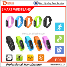 Smart concept E06 smart bracelet 2016 smart bracelet watch LED Touch screen step,sleep,music