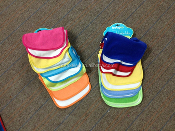 Wholesale washable cotton dental baby bib set with card