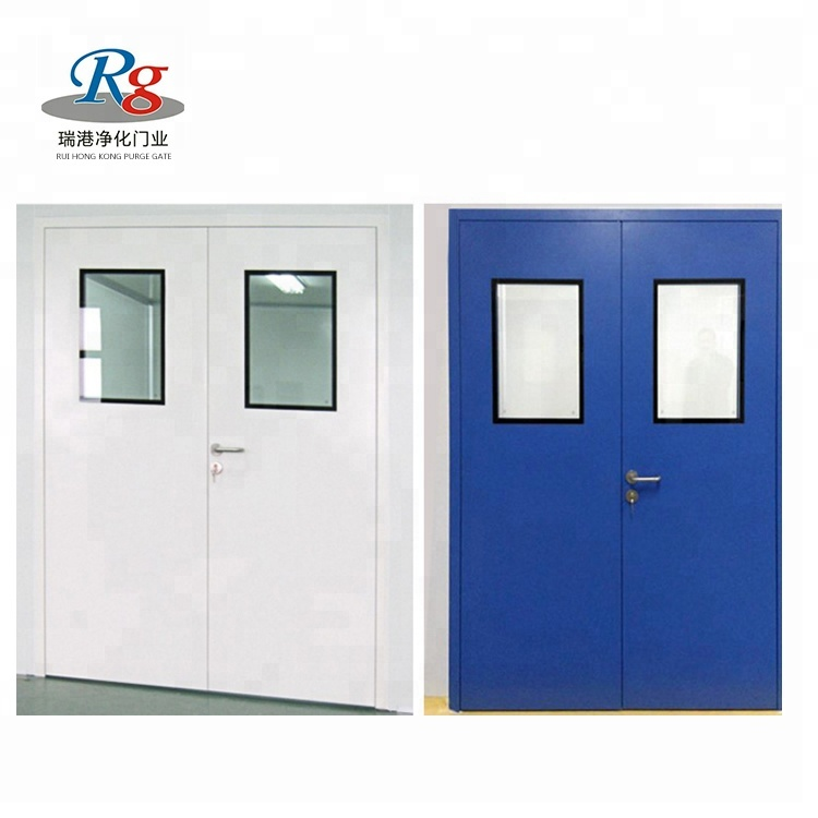China manufacturer high quality soundproof fire rated design steel security <strong>door</strong> for clean room