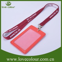 Lanyard Accessories Leather Badge Holder With