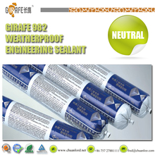 High quality and clear borosilicate glass silicone sealant for fireplace
