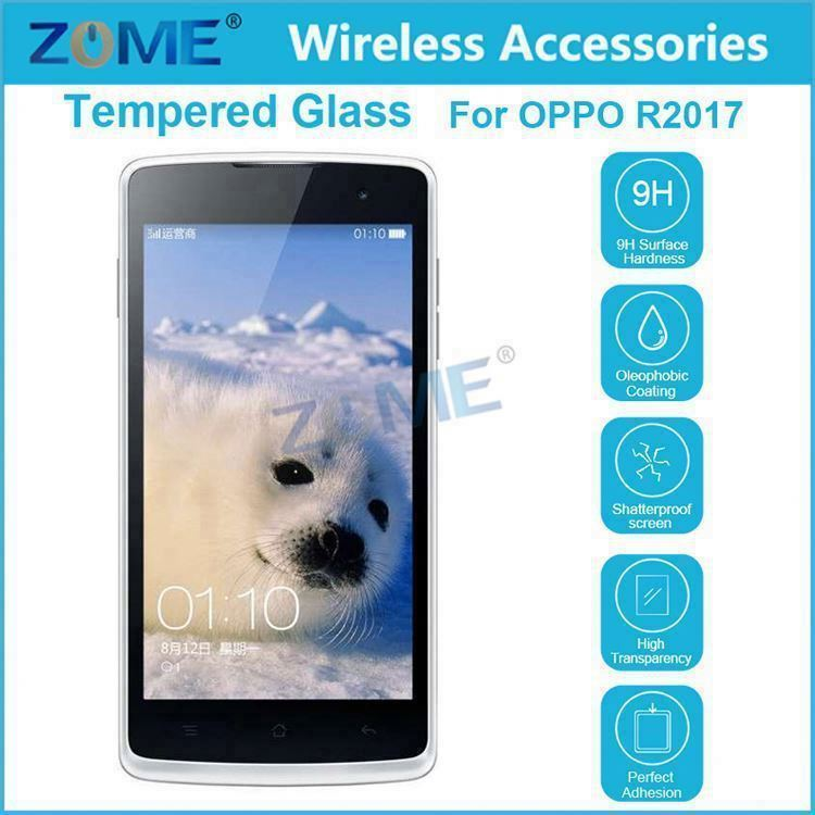 Used Mobile Phones For Oppo R2017/ R2001 9H Tempered Glass Guard Film Screen Protector Cover