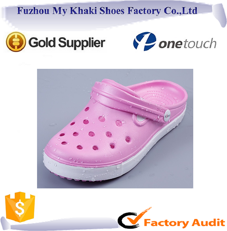 NEW rubber eva slipper 13 holes beach shoes for woman lady indoor bath garden clogs