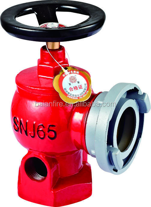 "2.5"" oblique fire hydrant valve 2.5"" good fire valves for sale"